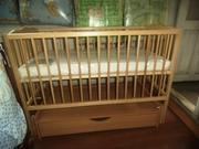 Детская кроватка Польща на шарнирах с шуфлядкой і без