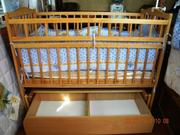 Детская кроватка Польща на шарнирах с шуфлядкой трансформер
