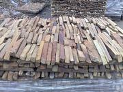 Плитка резаная из песчаника нарезка фасадно-стеновая,  торец.