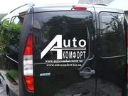 Заднее стекло (распашонка левая) без электроподогрева Fiat Doblo 2000-