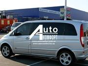 Установка (врезка) бокового автостекла на автомобиль Mercedes-Benz Vit