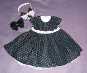 Ефектное черное платье для девочки