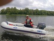 Продам лодку Ямаха 3.1 дс двигателем 8 л.с.