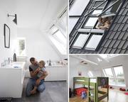 Мансардні вікна Луцьк, Купити мансардні вікна ціна- Roto, Velux, Fakro