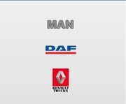 Запчасти к грузовым автомобилям Daf,  Man,  Renault