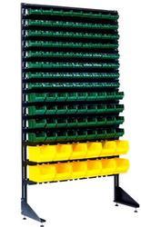 Стеллаж универсальный для склада с ящиками под метизы